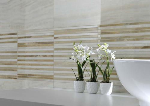 Bathroom-mosaic-wall-tile Ceramiche-Coem Pietra-Splendente Alabastro-Bianco