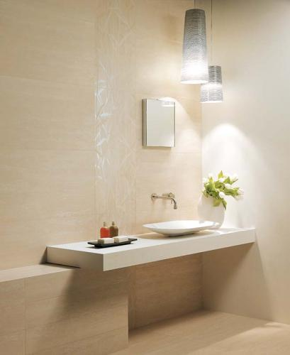 Ceramic-bathroom-tiles-Ceramiche Coem Travertino Romano-al-Verso
