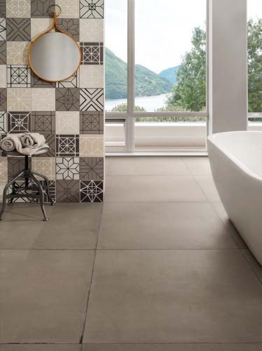 Ceramica-Fioranese Terraviva Cemento-90x90 Decoro-Segni